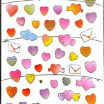 דף מדבקות לבבות (זוהר)