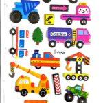 דף מדבקות כלי תחבורה