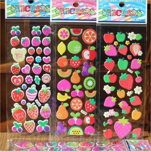 דפי מדבקות פירות